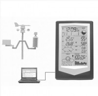 Цифровая метеостанция с выносными датчиками LASERTEX X40