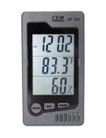 Измеритель температуры и влажности CEM DT-322, часы