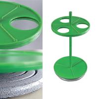 Штатив ПЭ-2960 для 3-х круглых или грушевидных делительных воронок объемом 250 или 500 мл