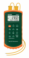 Цифровой термометр Extech 421502 с двойным входом с термопарой типа J/К, до 1370°С