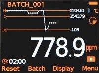 Elcometer 130 Временная диаграмма на дисплее