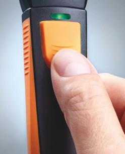 Смарт-зонд testo 410 i — Анемометр с крыльчаткой с Bluetooth, управляемый со смартфона/планшета