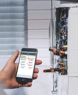 Смарт-зонд testo 115 i — Термометр для труб (зажим) с Bluetooth, управляемый со смартфона/планшета