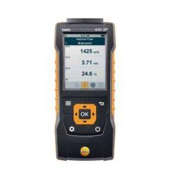 Прибор testo 440 dP для измерения скорости и оценки качества воздуха в помещении со встроенным сенсором дифференциального давления