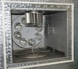 Аппарат ЛинтеЛ ПСБ–10 для определения старения битумов под воздействием высокой температуры и воздуха