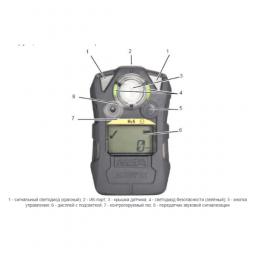 Газоанализатор ALTAIR 2X H2S-Pulse, пороги тревог: 5,10,10,5 ppm