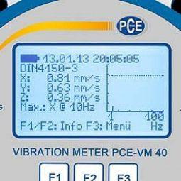 Виброметр для зданий и сооружений PCE-VM 40B
